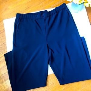 Chico's Navy Pull On Tapered Ankle Pants 14 NWT